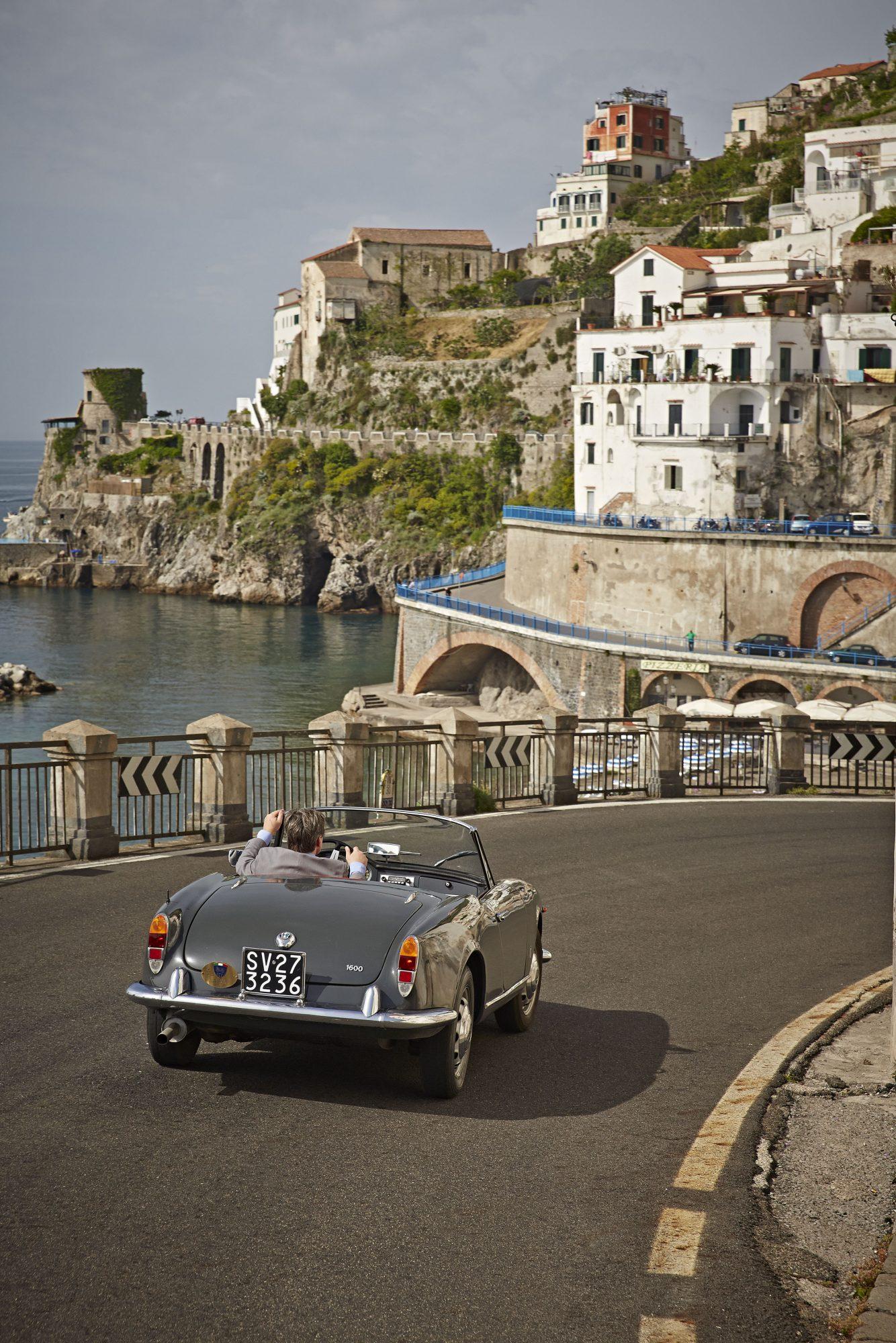Amalfi Coast road trip in a 1963 Alfa Romeo Giulia Spider